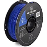 HATCHBOX PLA 3D Printer Filament, Dimensional Accuracy +/- 0.03 mm, 1 kg Spool, 1.75 mm, Blue, Model Number: 3D PLA-1KG1.75-B