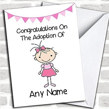 Adoption congratulations adopting an older girl daughter customised adoption congratulations adopting an older girl daughter customised greetings card new baby cardsadoption m4hsunfo