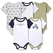 Hudson Baby Baby Cotton Bodysuits, Dirt Bike 5-Pack, 3-6 Months (6M)