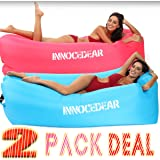 INNOCEDEAR 2 Pack Inflatable Lounger Air Sofa Hammock,Inflatable Couch Air Chair,Camping Accessories,Waterproof Anti-Air Leak
