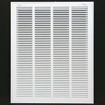 x 25 in Return Air Filter Grille 20 in Steel Powder Coated White Finish