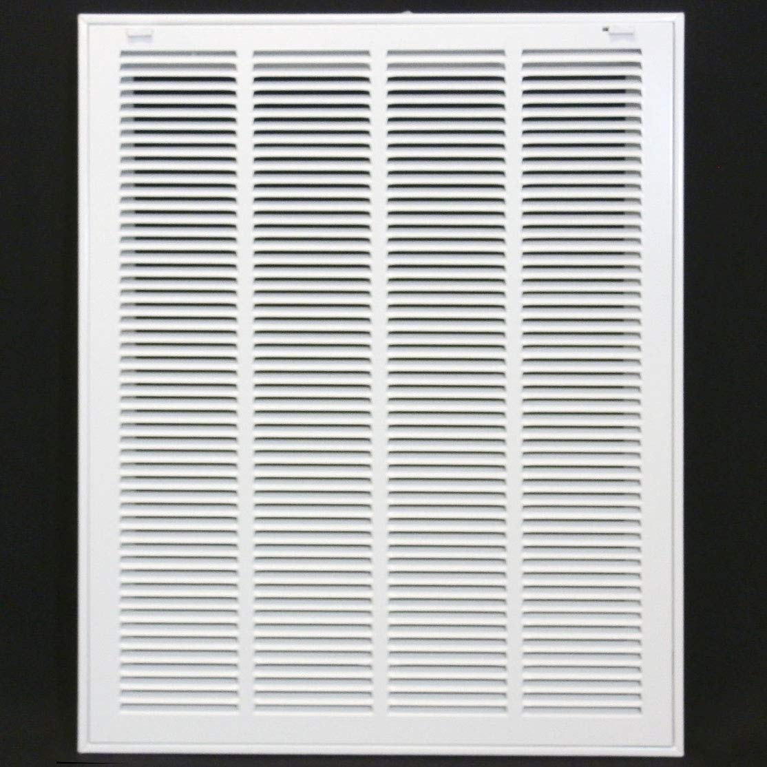 20'' X 25 Steel Return Air Filter Grille for 1'' Filter - Removable Face/Door - HVAC DUCT COVER - Flat Stamped Face - White [Outer Dimensions: 22.5 X 26.75] by HVAC Premium
