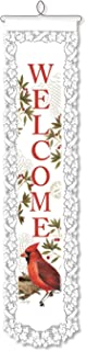 """product image for Heritage Lace Cardinal Welcome Wall Hanging, 8"""" by 32"""", White"""