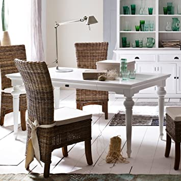 NovaSolo Provence Dining Table, 200cm, White