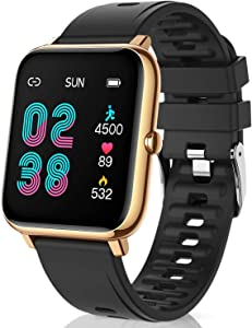 CanMixs Smart Watch for Android Phones iOS Waterproof Smart Watches for Women Men Sports Digital Watch Fitness Tracker Heart Rate Blood Oxygen Sleep Monitor Touch Screen Compatible Samsung iPhone