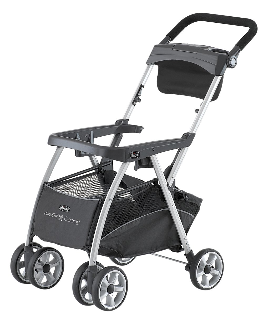 Chicco KeyFit and Fit2 Car Seat Compatible Caddy Baby Stroller Frame, Black by Chicco