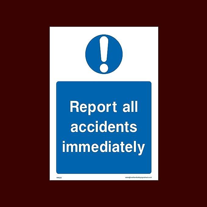 USSP&S Informe inmediatamente Todos los Accidentes plástico ...