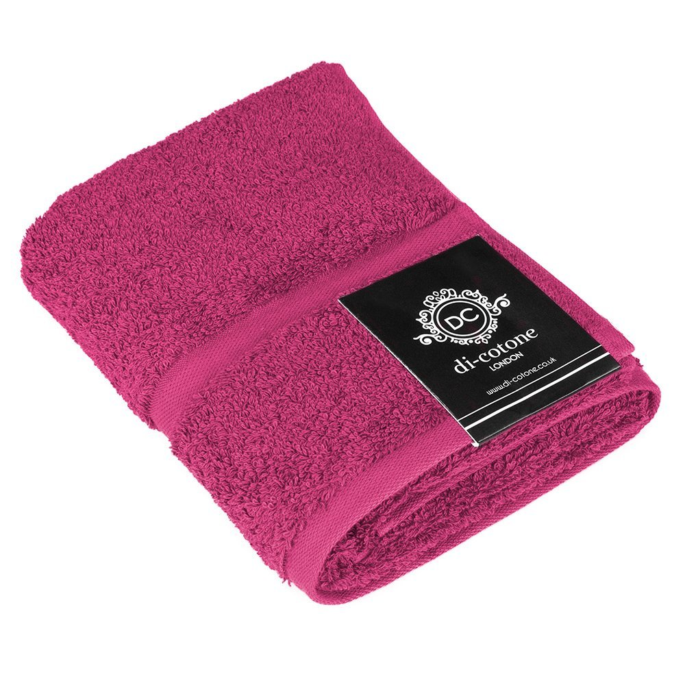 Di-Cotone Luxury Super Soft 600GSM 100% Egyptian Cotton Yarn Hand Towel - Fuchsia