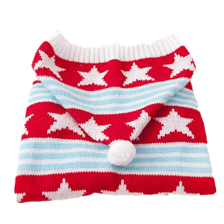 RED 22 RED 22 SENERY Winter Pet Dog Clothing,Cat Crochet Knit Sweater Large Dog Coat Jacket golden Retriever Labrador Hoodie