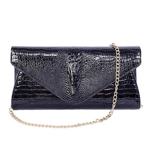 a0e1beddde Women Crossbody Purse Shoulder Bag Pouch Purse Wristlet Clutch Envelope  Evening Party Bag Black