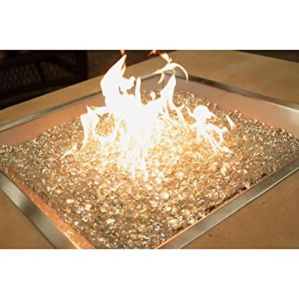 Stainless Steel Crystal Fire Burner Square - Amazon.com : Stainless Steel Crystal Fire Burner Square : Fire Pits