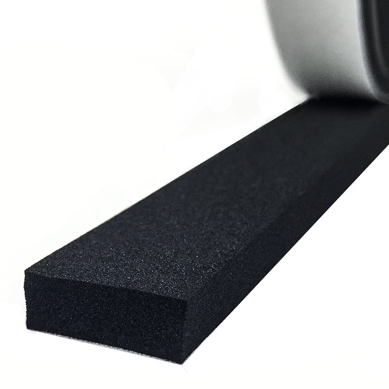 Adhesive Foam Tape, High Density Sound Proof Insulation Closed Cell Foam Seal Weather Stripping 1/4 Inch Wide X 1/8 Inch Thick X 50 Feet Long (1/4in 1/8in) by MAGZO (Image #1)