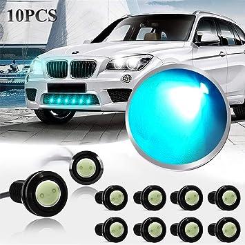 10X 9W Ice Blue LED Eagle Eye Light Daytime Running DRL Tail Backup Light Car