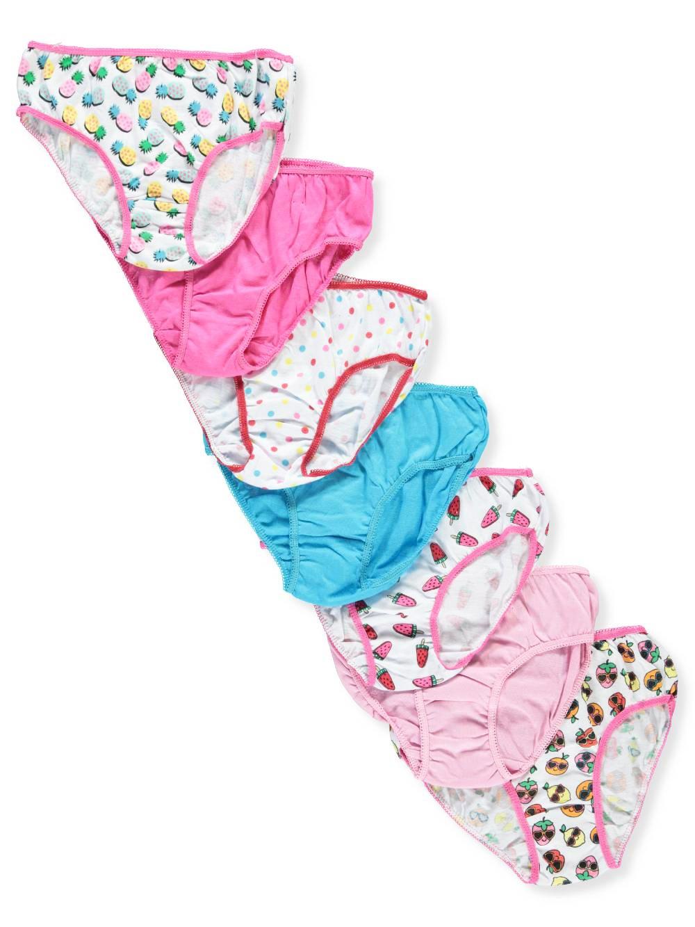 Marilyn Taylor Girls' 7-Pack Bikini Panties