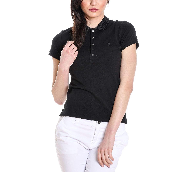 Ralph Lauren Women's 211697241 Black Cotton Polo Shirt