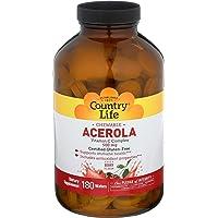 Country Life Acerola 500mg Chewable Vitamin C Complex Clean Antioxidants & Citrus...