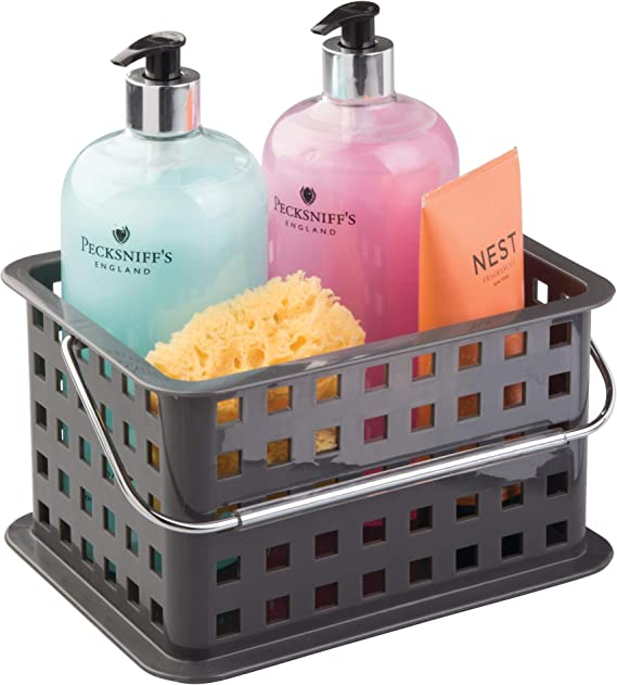 iDesign Spa BPA-Free Plastic Small Stackable Basket with Handle - 5.3