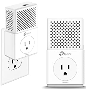 TP-Link AV1000 Powerline Adapter - Gigabit Port, Plug&Play, Noise Filtering(TL-PA7010P KIT)