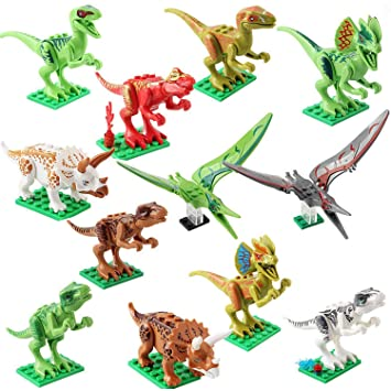 ShineMore Jurassic World, Juguetes de Figuras de Dinosaurios (12 Pack)
