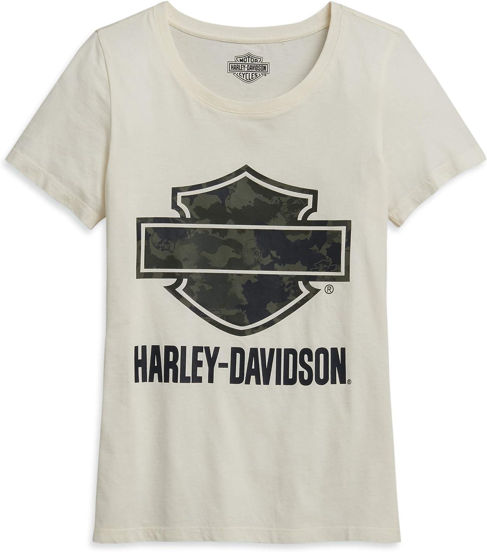 HARLEY-DAVIDSON - Camiseta de Manga Corta para Mujer, diseño de Camuflaje: Amazon.es: Ropa y accesorios