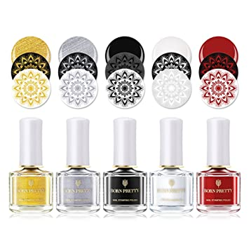 Amazon Born Pretty Nail Stamping Polish Nail Art Varnish Diy