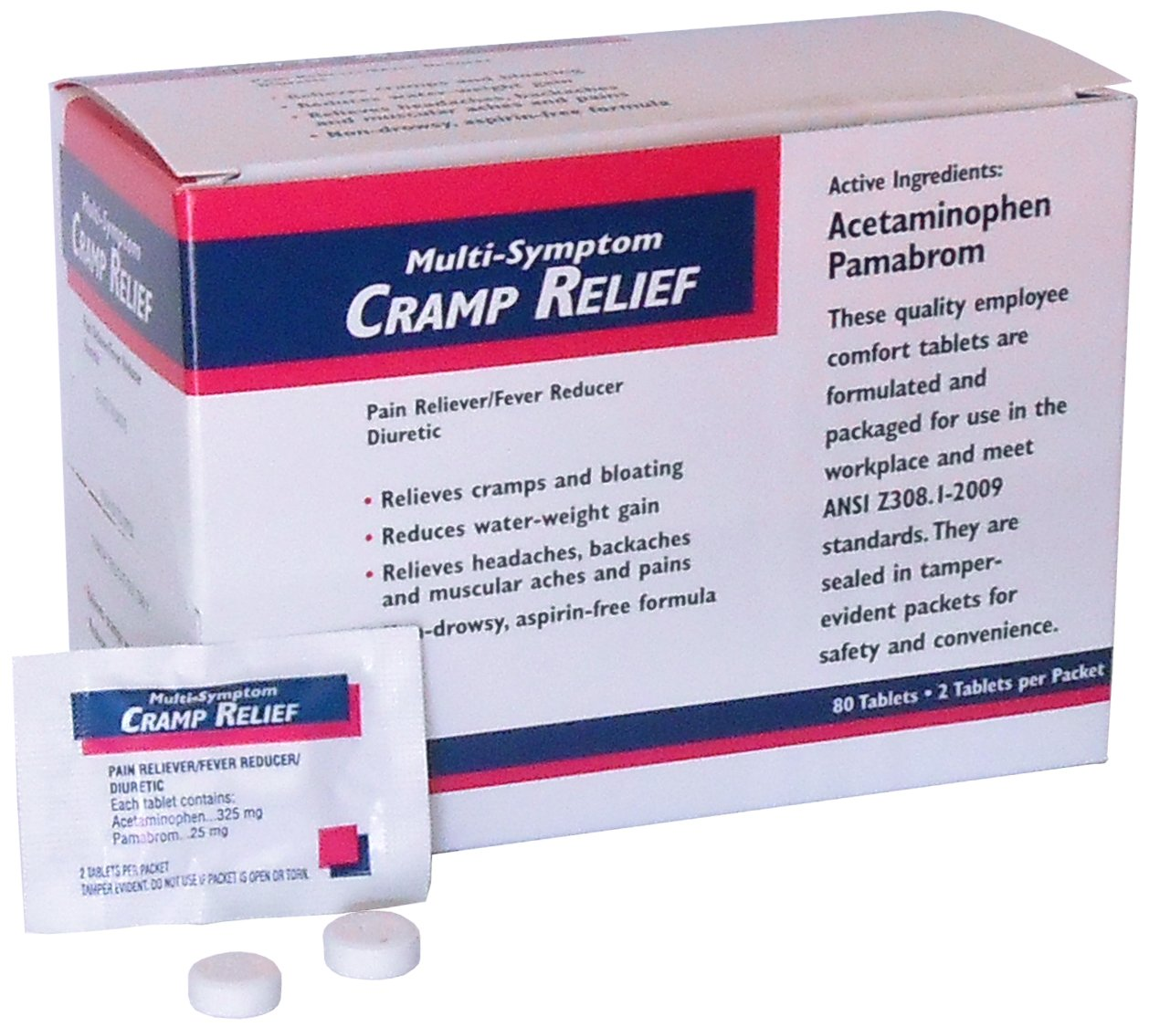 Individually Packaged Cramp Tabs (80/Box) by American First Aid