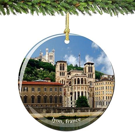 Amazon.com: Lyon France Christmas Ornament Porcelain 2.75\