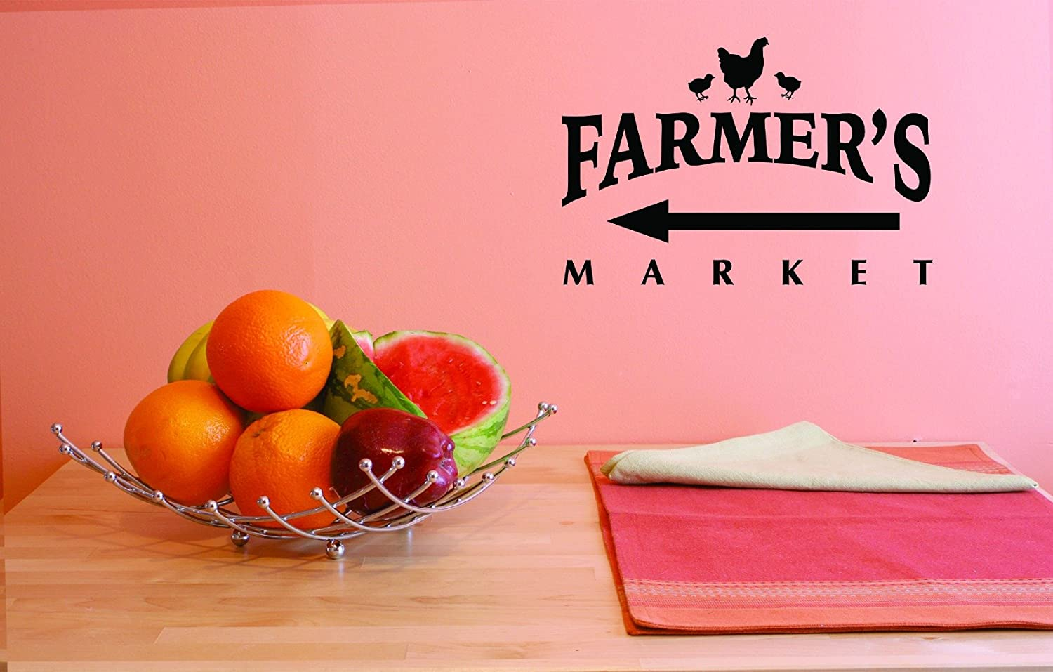 Design with Vinyl JER 1764 1 1 Hot New Decals Farmers Market Wall Art Size 10 inches x 20 inches Color 10 x 20 Black