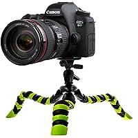 Motionjoy Grande Flexible Trépied Travel Portable Octopus Tripod Stand pour caméras DSLR Caméscopes Caméra Gopro Enregistreurs vidéo, iPhone et Android Smartphones - Noir / Vert