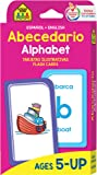 School Zone - Bilingual Alphabet Flash Cards - Ages 5+, Kindergarten to 1st Grade, ESL, Language Immersion, Phonics, ABCs, Alphabetical Order, and More (Spanish and English Edition) (Spanish Edition)