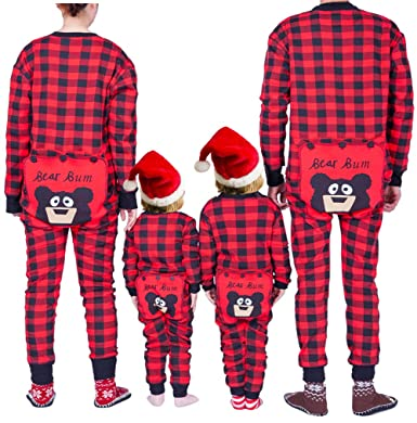 0b78212ebf Christmas Family Matching Onesies Pajamas Adult Kids and Infant Pajamas Xmas  Holiday Sleepwear One-Piece Nightwear  Amazon.co.uk  Clothing