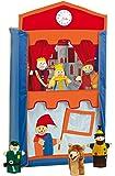 Roba - 6972 - Théâtre De 6 Marionnettes Avec Pendule - Guignole, Princesse, Roi, Policier, Voleur Et Loup