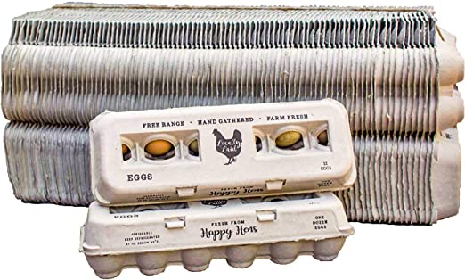 100/% Recycled 25 Pack Made in USA Adorable Vintage Design Henlay Egg Cartons