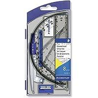 Staedtler - Noris Club 550 - Set Scolaire 1 Compas Scolaire de Précision avec Attache-Compas Universelle Intégrée + Accessoires