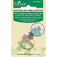 Clover Ring Thimble W/Plate-Adjustable