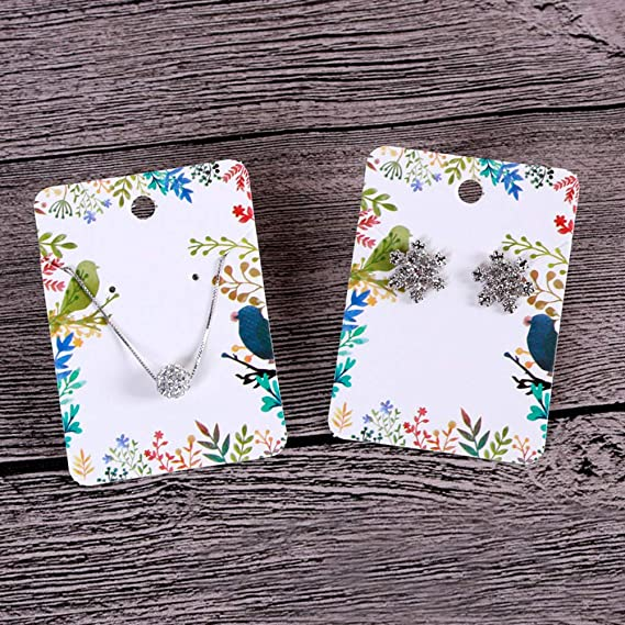 3.75 x 1.96 Inches Earring Cards Set Unicorn Fashion Colorful Card Holder Organizer Tags DIY handmade Packing Cards for Earring Stud Necklace Jewelry 100 Pcs Paper Earring Display Cards with 100 Pcs Self-Seal Bags