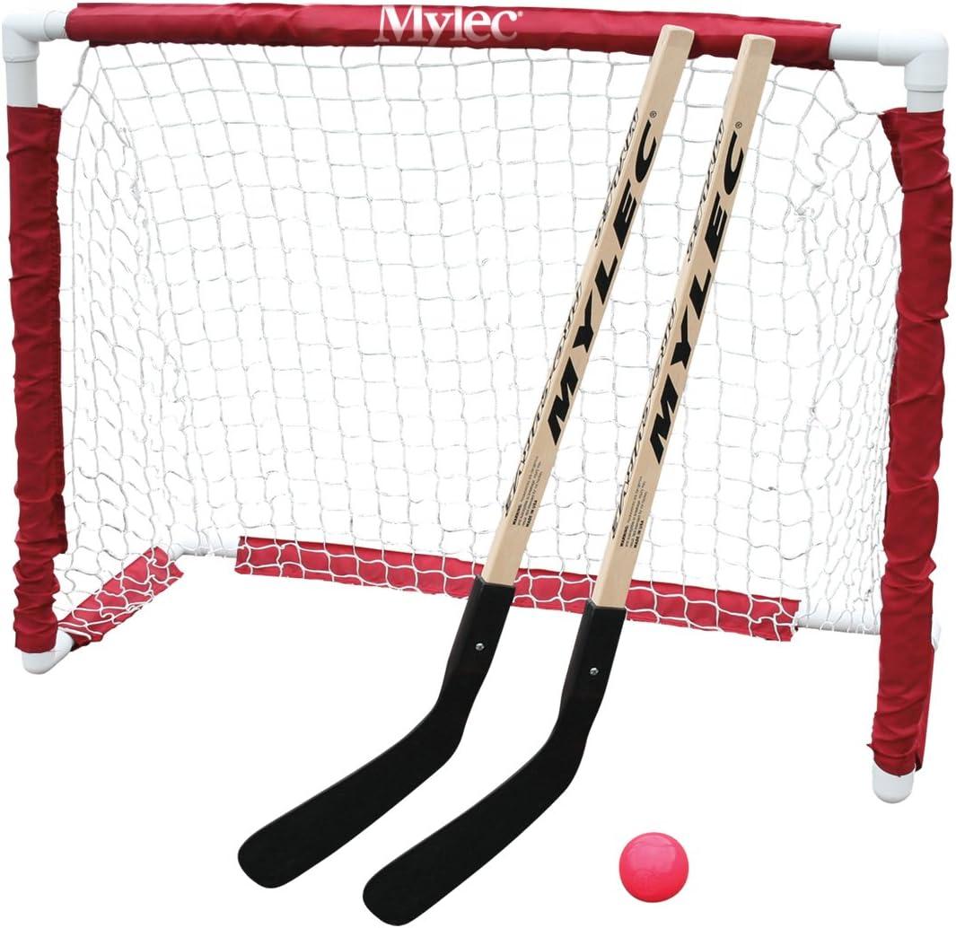 "Mylec Jr. Hockey Goal Set, White, 40""X36'X15"" : Street Hockey : Sports & Outdoors"