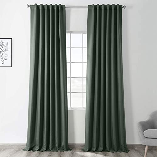 HPD Half Price Drapes BOCH-194906-120 Green Blackout Room Darkening Curtain 1 Panel