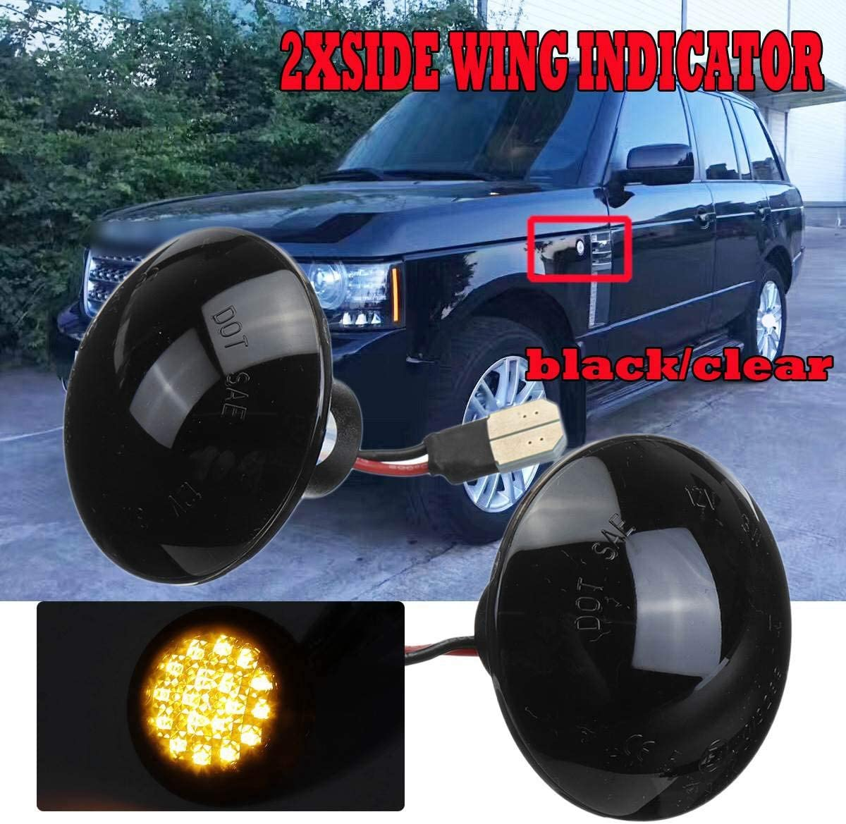Tuneway Car Dynamic LED Ripetitore Laterale Indicatore di Direzione Indicatore Laterale Scorrevole Lampada Spia per Land Range Rover L322 2002-2012 Bianco