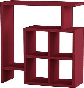 Ada Home Décor Smith Side Table, 22'' x 22'' x 8'', Burgundy