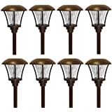 Alpan 10192 8 LED Pathway Solar Lights, One Size, Oil Rubbed Bronze