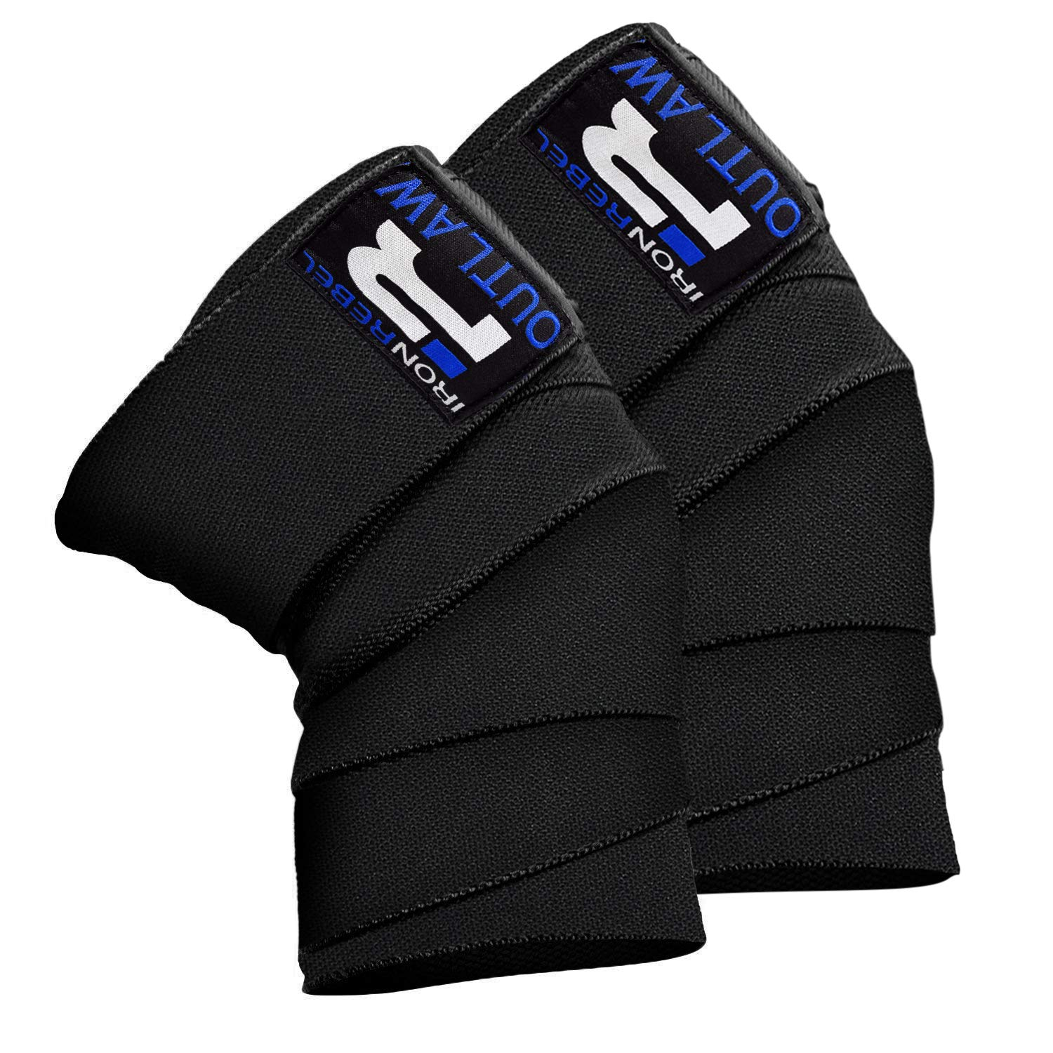 Iron Rebel Outlaw Knee Wraps - Strong and Durable for Advanced Lifters - Support and Stability in Squats, Powerlifting, Bodybuilding or Cross Training - for Men and Women (Pair)