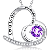 Engagement Mom London Blue Topaz Coin Gemstone Necklace  December Birthstone Jewelry for Her  Birthday Best Friend Gift Anniversary