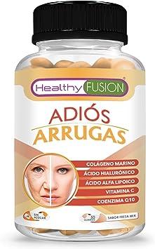 Tratamiento antiarrugas a base de colágeno hidrolizado y ácido hialurónico | Previene la aparición de arrugas | Piel hidratada, firme y más joven | Potente reafirmante y reconstituyente | 50 unidades: Amazon.es:
