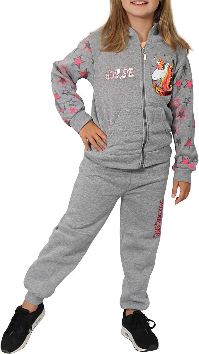 Candygirls B545P - Chándal térmico para niña, diseño de Unicornio ...