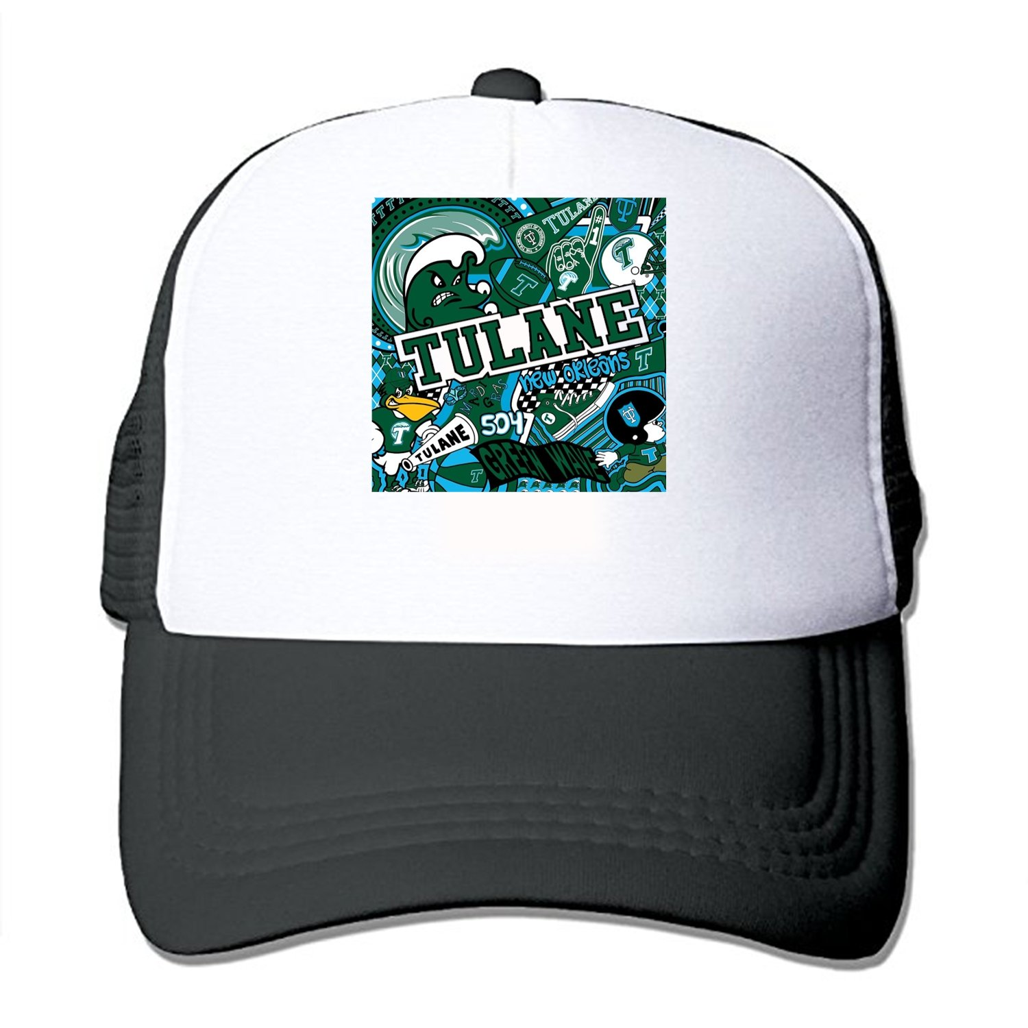 Tulane Collage Mesh Back Trucker Cap Low Profile Adjustable Snapback Hat at  Amazon Men s Clothing store  0eb655fccac