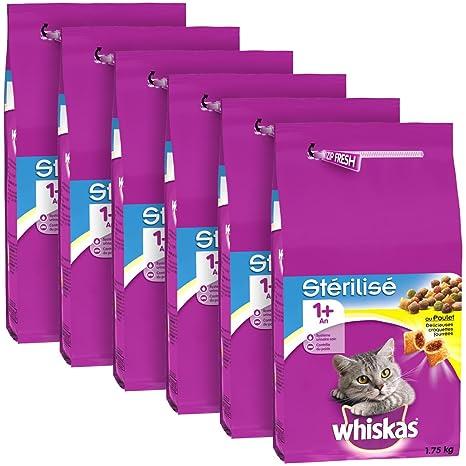 whiskas - Alimento seco de Pollo para Gatos esterilizados ...
