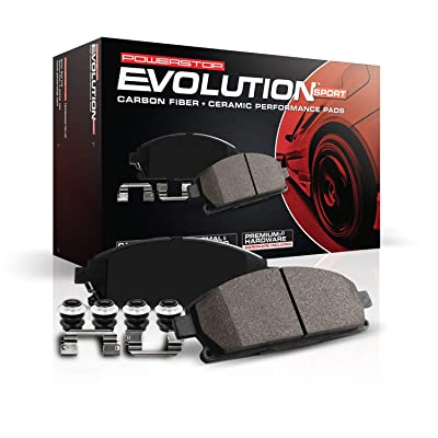Power Stop Z23-905, Z23 Evolution Sport Carbon-Fiber Ceramic Rear Brake Pads: Automotive