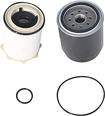 Amazon.com: Diesel Fuel Filter Set Water Separator - Compatible with Ram  2500, 3500, 4500, 5500 6.7L Cummins Engine Years 2013, 2014, 2015, 2016,  2017, 2018 - Replaces 68157291AA, 68197867AA, FS43255, 68065608AA:  Automotive | 2014 Ram 2500 Cummins Fuel Filter |  | Amazon.com