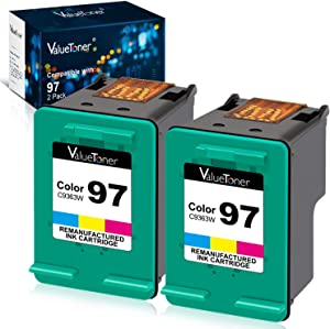 Valuetoner Remanufactured Ink Cartridge Replacement for HP 97 C9349FN C9363WN (2 Tri-Color) 2 Pack